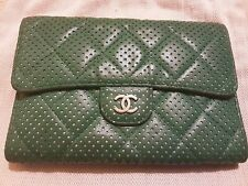 CHANEL GREEN LEATHER LADIES WALLET/PURSE