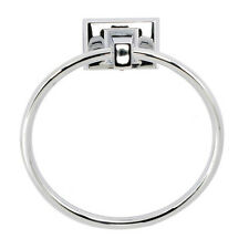 """6"""" Towel Holder Ring in Chrome - Marina Collection"""