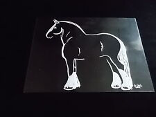 Draft Horse Decal Truck Trailor Car 5X7 Instructions To Apply Picture #2