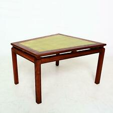 Mid Century Modern Walnut Wedge Side Table with Gold Leaf Style of Dunbar