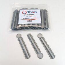 Dental Ligature Elastic Orthodontic Ties Silver Gray Pack 1040 Pcs Orthom Usa