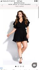 City Chic Black Playsuit Jumpsuit Shorts Size L