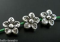50 Neu älter Silber Spacer Perlen Beads Metall Perlen 9x9mm