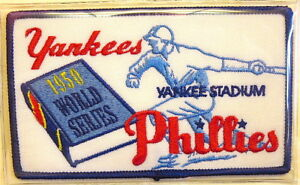 1950 WORLD SERIES PATCH ~ NEW YORK YANKEES / PHILLIES Willabee & Ward PATCH ONLY