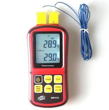 Digital K-Type Dual Channel LCD Display Thermometer Thermocouple Sensor C/F