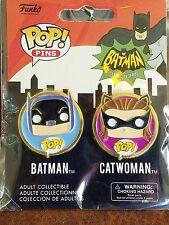 FUNKO POP PINS BATMAN AND CATWOMAN NIP