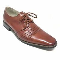 Men's Stacy Adams Raynor Oxfords Dress Shoes Size 10M Brown Leather Plain Toe Y2