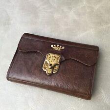 PORTE AIGUILLES COUTURE Cuir Couronne Vicomte XIXè Victorian SEWING CASE 19thC
