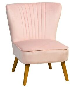 BRAND NEW Shell Back Accent Chair in Blush & Navy