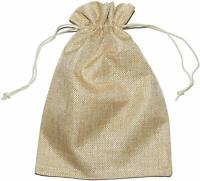 x12 JUTE SACK CLOTH DRAWSTRING GIFT BAGS WRAPPING BAG POUCH JEWELLERY HESSIAN