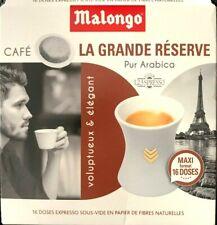 Malongo Grande Reserve - Espresso, 80 Pads - 100 % Arabica, Cafe, Caffe