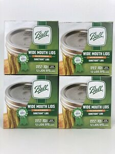 Ball Wide Mouth Canning Mason Jar Lids 4 Boxes of 12 Lids(48 Lids Total)