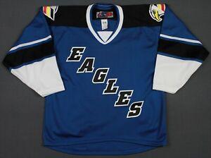 Colorado Eagles SP CHL Minor League Hockey Jersey Medium Blue/Black