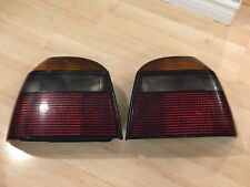 RARE VW Volkswagen MK3 Golf GTI VR6 Cabriolet Smoked Tail Lights With Bulb Trays