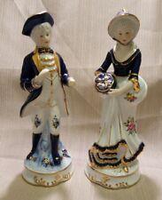 """Vintage KPM Porcelain Colonial Couple, 10"""""""