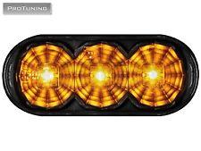 OVAL Black Dark Side Wing Turn signals Indicator crystal 2 pcs Mk 2 3 LEDs