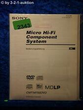 Sony Bedienungsanleitung CMT M700DVD Component System (#2343)
