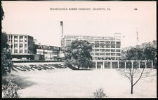 JEANNETTE PA Pennsylvania Rubber Company Vintage B&W Postcard Early Old PC