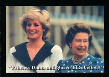 Queen Elizabeth II and Princess Diana, All Smiles - Trading Card, Not a Postcard