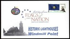 Flags of our Nation - Vermont (Sc. 4325) Windmill Point Lighthouse