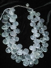HANDCRAFTED FLUORITE OVAL NECKLACE DOUBLE STRANDS LADAN