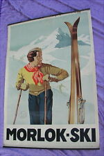 Altes Plakat Ski Morlok 1925