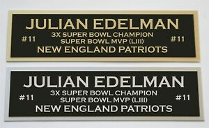 Julian Edelman nameplate for signed autographed jersey football helmet or photo