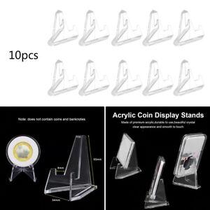10 pcs en acrylique transparent médailles pièces présentoir chevalet exposition