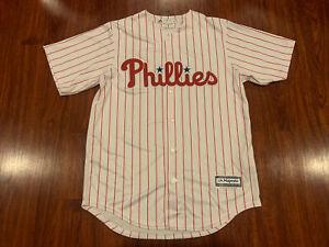Majestic Cool Base Mens Philadelphia Phillies White Jersey Medium M Baseball MLB