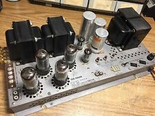 FISHER 680A Stereo power amp tube 7591 12ax7 good sounding.