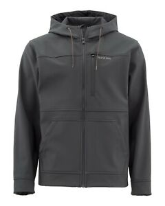 Simms Rogue Hoody - Raven - Men's Medium - Full Zip Jacket - Brand New