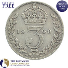1902 to 1910 KING EDWARD VII SILVER THREEPENCE 3d - CHOOSE YOUR YEAR!