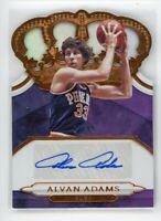2018-19 Alvan Adams /99 Auto Panini Crown Royale Autographs Die-Cut