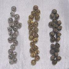 40 intercalaires CHOIX toupies perles 5mm perle en métal doré argenté ou bronze