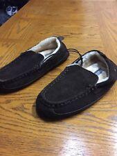 Men's Eddie Bauer Jesse Suede Slipper Medium Size 13 XL / Brown / Lined