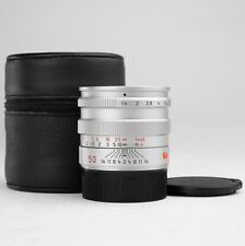 LEICA 50mm F1.4 SUMMILUX-M 11856 Late Pre-Asph Silver Lens #393... *MINT*
