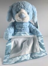 "GUND Peek-a-Boo Furry Friends Animated Puppy Plush, Blue, 10"" Satin Trim Blanket"