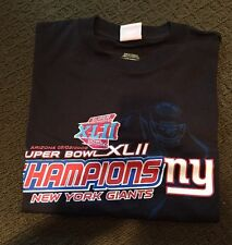 Super Bowl XLII 2008 Shirt Size Large New York Giants Vs New England Patriots