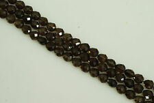 "Faceted Ovalish Smoky Quartz Bead approx. 11x12mm, 15"" long"