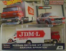 HOTWHEELS TEAM TRANSPORT NISSAN SKYLINE HT 2000GT-X SAKURA SPRINTER.,.,.,