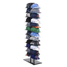 Double Sided Baseball Cap Hat Rack Floor Standing Display Tower Black