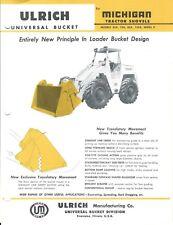 Equipment Data Sheet - Ulrich Bucket Michigan 55A et al Tractor Shovel (E5341)
