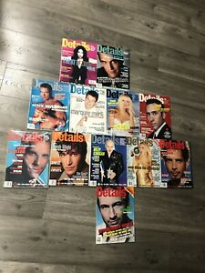 Details Magazine Lot 1995 1996 1997 12 Issues Total