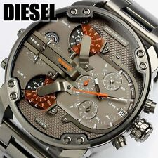 DIESEL DADDY 2.0 GUNMETAL ORANGE CHRONOGRAPH WATCH BRAND NEW ANALOG STUNNING