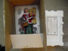 """Danbury Mint Star Spangled Mrs Claus Statue Figurine 9 1/2"""" Tall Nib w Coa"""