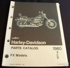 Original Harley Shovelhead FX Parts Catalog 1971 - 80 NOS part# 99455-80 (93)