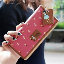 Hot Pink New Fashion Lady Women Long Purse Clutch Wallet Zip Bag Card Holder