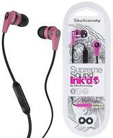 Skullcandy S2IKDY-133 PINK/BLACK INKD 2.0 In-Ear Headphones w/Mic / Brand New