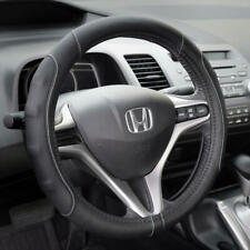 Gray Stitched PU Leather Sport Grip Steering Wheel Cover for Car Truck SUV