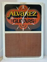 Vintage Alvarez Guitars Electric Wall Clock Advertising W/message Board Works!